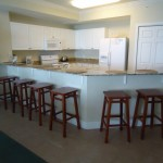 Full kitchen includes bar and stools with seating for 6 - Tidewater 401